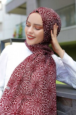 Akara - Pink & Blue Patterned Hijab - Sal Evi