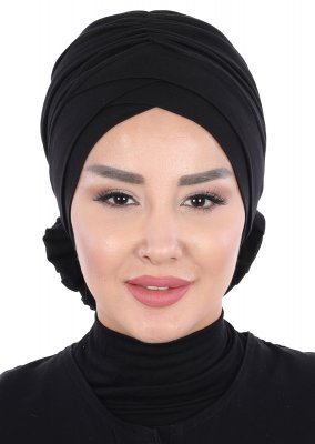 Elisabeth - Black Cotton Turban