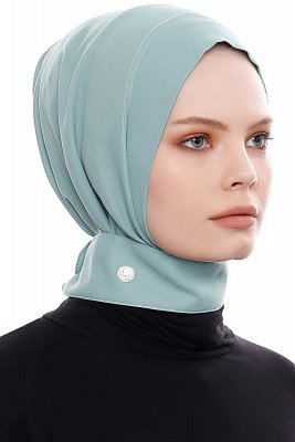 Narin - Mint Practical One Piece Crepe Hijab