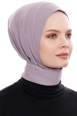 Narin - Stone Grey Practical One Piece Crepe Hijab