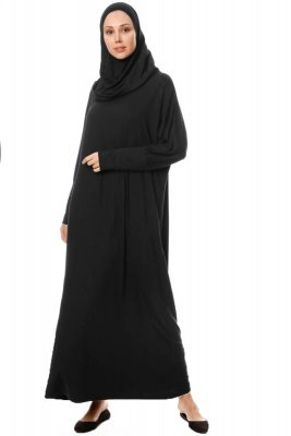 Nisa - Black Prayer Dress - Miss Halima