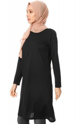 Sarah - Black Tunic - Miss Halima