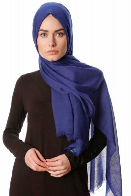 Selma - Dark Blue Plain Color Hijab - Gülsoy