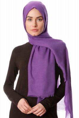 Selma - Dark Purple Plain Color Hijab - Gülsoy