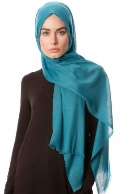 Selma - Petrol Green Plain Color Hijab - Gülsoy