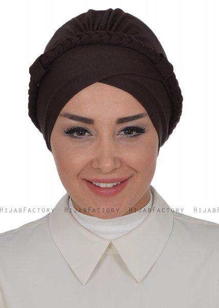 Olivia - Brown Cotton Turban - Ayse Turban