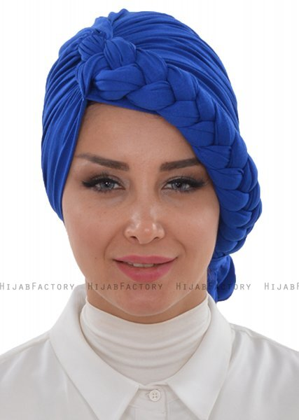 Theresa - Blue Cotton Turban - Ayse Turban