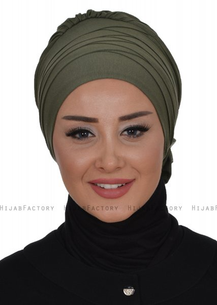 Monica - Khaki Cotton Turban - Ayse Turban