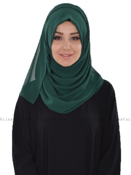 Evelina - Dark Green Practical Hijab - Ayse Turban