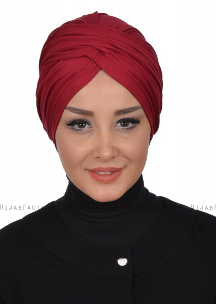 Fiona - Bordeaux Cotton Turban - Ayse Turban