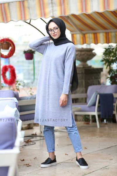 Alania - Grey Tunic - Insirah