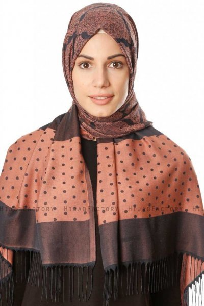 Alev - Salmon Patterned Hijab