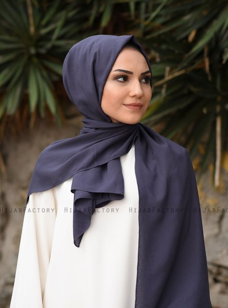 Alida - Anthracite Cotton Hijab - Mirach