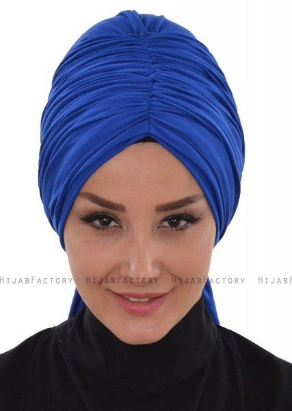 Amy - Blue Cotton Turban - Ayse Turban