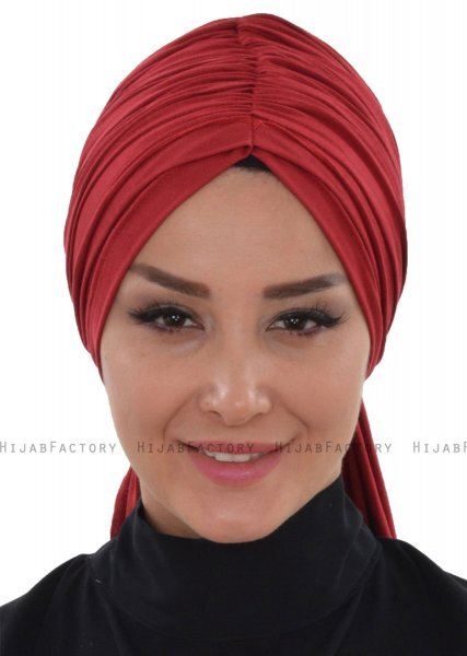 Amy - Bordeaux Cotton Turban - Ayse Turban