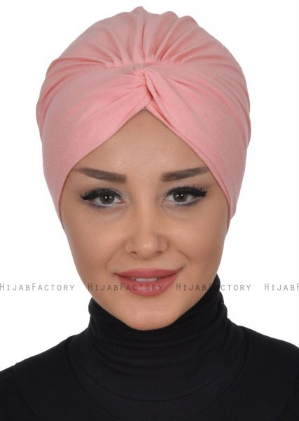 Astrid - Dusty Pink Cotton Turban - Ayse Turban