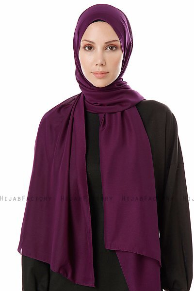 Ayla - Dark Purple Chiffon Hijab
