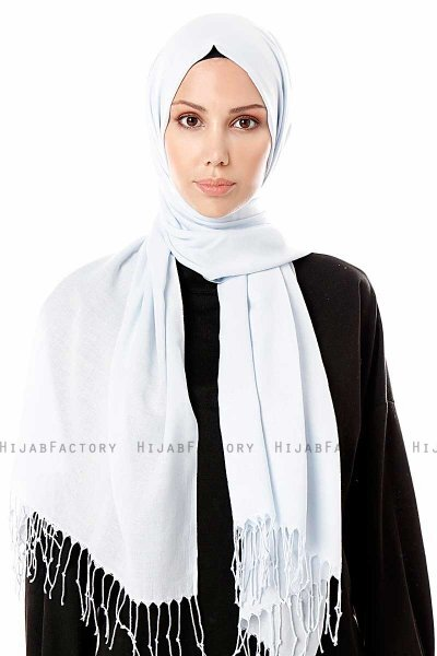 Aysel - Light Blue Pashmina Hijab - Gülsoy