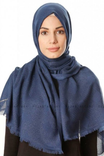 Caria - Navy Blue Hijab - Madame Polo