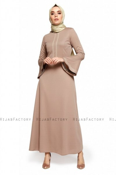 Deste - Taupe Dress - Miss Halima