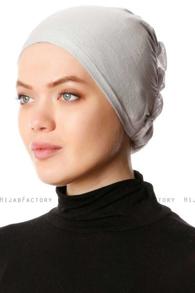 Dilara - Light Grey Underscarf - Ecardin