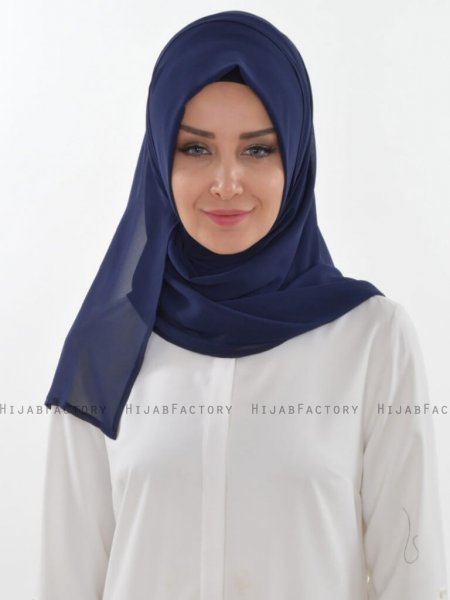 Evelina - Navy Blue Practical Hijab - Ayse Turban