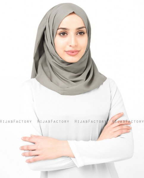 Fungi - Taupe Bomull Voile Hijab Sjal InEssence Ayisah 5TA48a