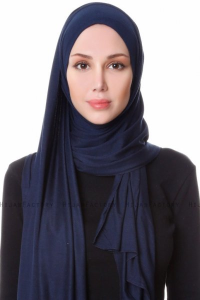 Hanfendy - Navy Blue Practical One Piece Hijab