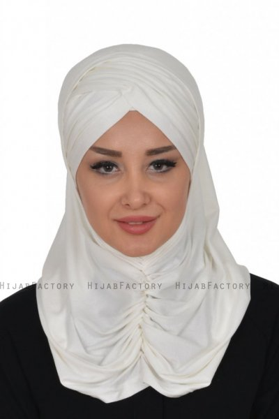 Hilda - Creme Cotton Hijab