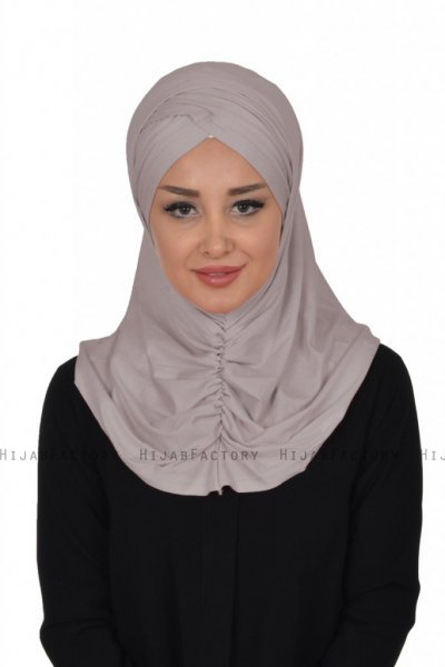 Hilda - Taupe Cotton Hijab