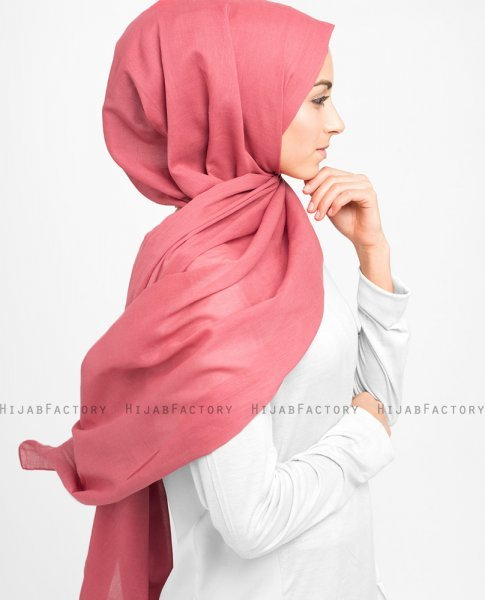 Hollyberry Rosa Bomull Voile Hijab 5TA20