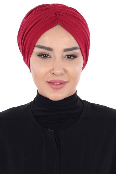 Jill - Bordeaux Cotton Turban - Ayse Turban