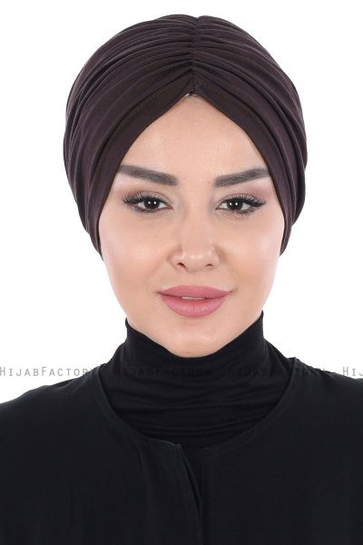 Jill - Brown Cotton Turban - Ayse Turban