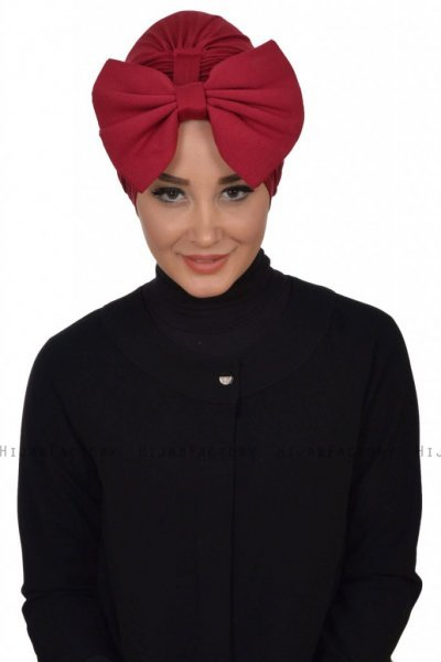 Julia - Bordeaux Cotton Turban - Ayse Turban