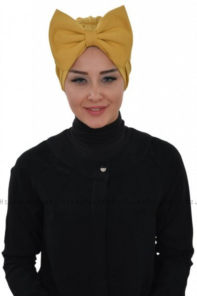 Julia - Mustard Cotton Turban - Ayse Turban