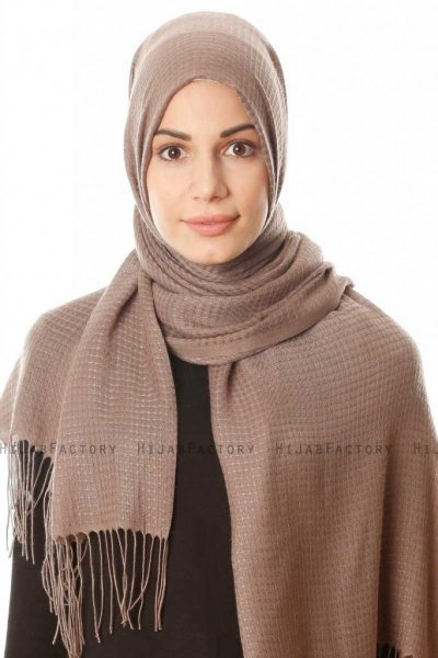 Lunara - Dark Brown Hijab - Özsoy
