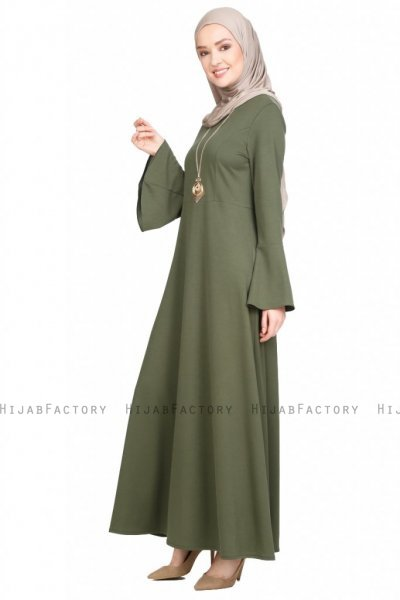 Maryam Khaki Dress Miss Halima 280271a