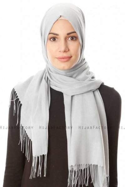 Meliha - Light Grey Hijab - Özsoy