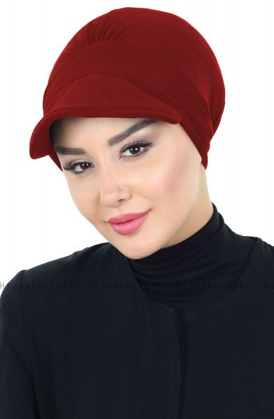 Sandra - Bordeaux Cotton Turban - Ayse Turban