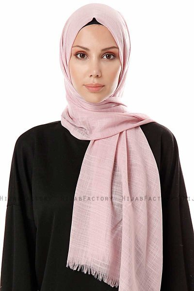 Selma - Dusty Pink Plain Color Hijab - Gülsoy