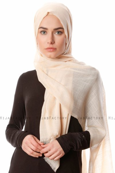 Selma - Latte Plain Color Hijab - Gülsoy