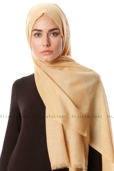 Selma - Light Gold Plain Color Hijab - Gülsoy