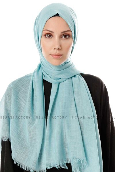 Selma - Mint Plain Color Hijab - Gülsoy