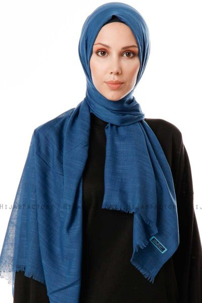 Selma - Petrol Blue Plain Color Hijab - Gülsoy