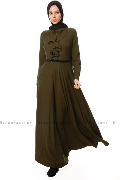 Yussra - Khaki Dress - Burun